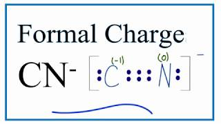 How To Calculate The Formal Charges For Cn Cynide Ion Youtube
