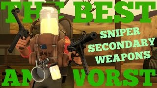 The Best and Worst: TF2 Sniper Secondary Weapons