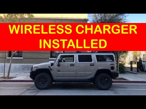 How to install a wireless charger to your hummer h2 .