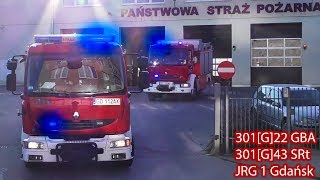 Engine 301 & Rescue 301 Responding Code 3 | Polish State Fire Service