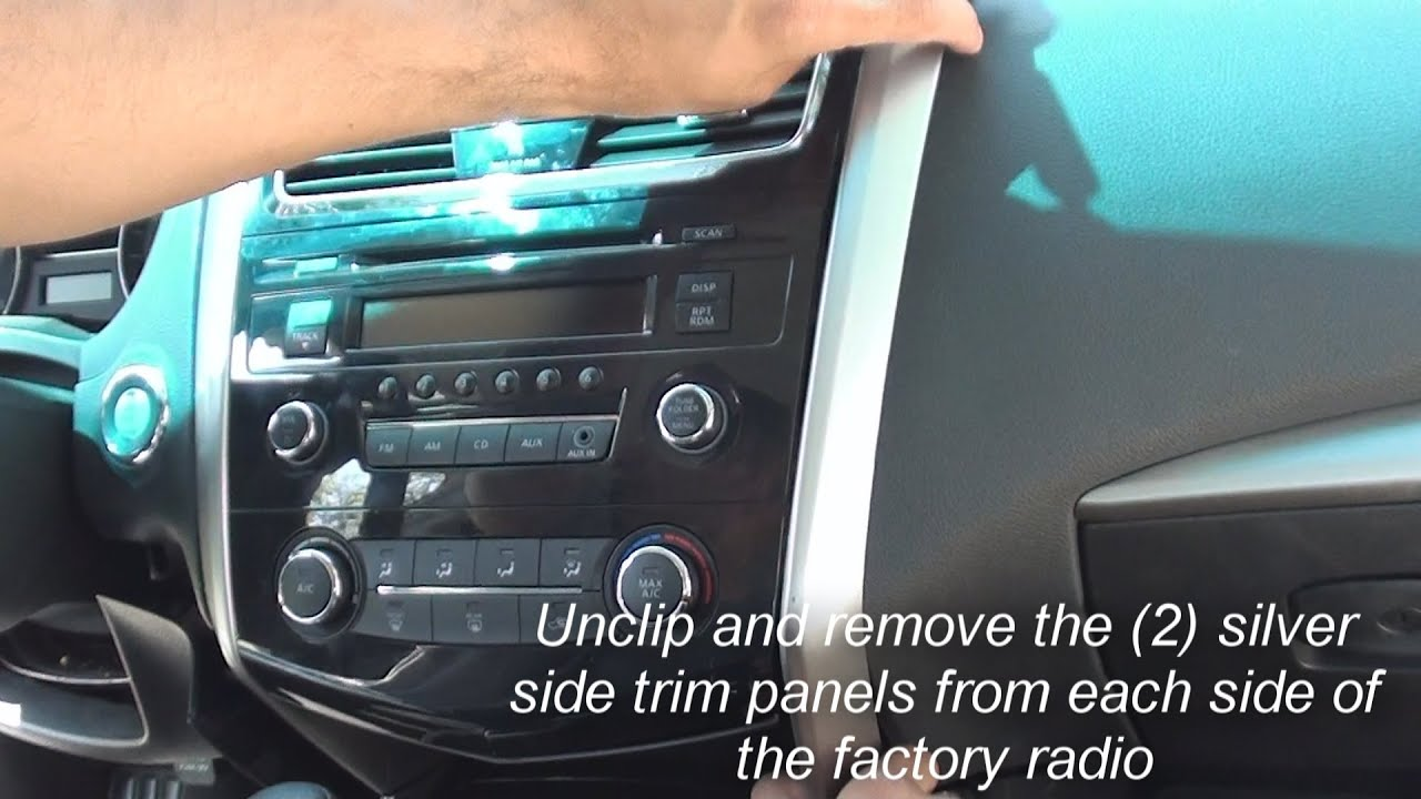 Nissan Pulsar N15 Head Unit Wiring Diagram For Sub And Amp Remove Factory Stereo Altima 2013 2014 Doovi