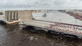 День ВМФ 2017 - аэросъёмка Санкт - Петербурга