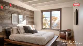 Home Decoration Styles for Modern Homes Modern Design   Wooden wall in the interior of the bedroom