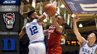 NC State vs. Duke Condensed Game | 2019-20 ACC Men's Basketball