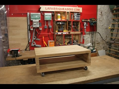 Comment r aliser une table basse en ch ne youtube - Fabriquer table basse bois ...