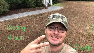 SEEDING A LAWN IN FALL | START TO FINISH (2018)