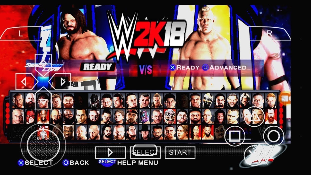 Wwe 2k18 Zip File Download For Ppsspp Compressed Burnground