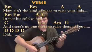 Rocket Man (Elton John) Strum Guitar Cover Lesson in Em with Chords/Lyrics