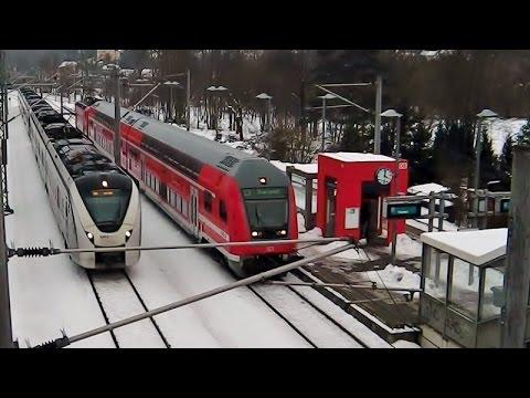 S-Bahn Überholung durch RE3 (ET 1440 der Mitteldeutschen Regiobahn) in Freital-Hainsberg West