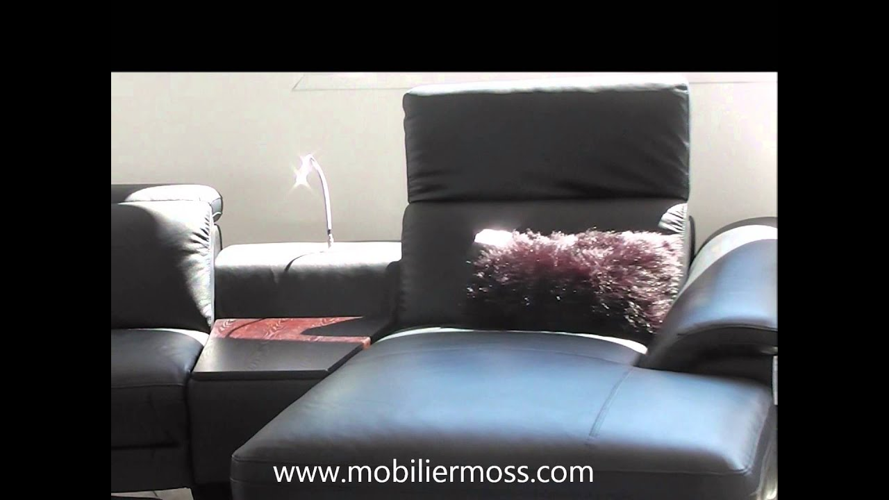 Mobiliermoss Meuble Tv Canapé D Angle Cuir Relaxation Electrique Glicy