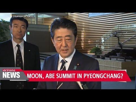 South Korea welcomes Japanese PM Abe's PyeongChang Olympics visit