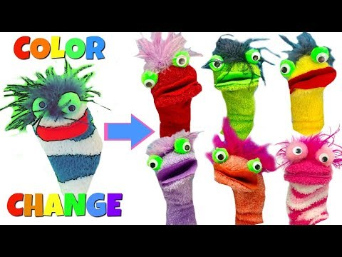 Learn Colors Video for Children with Color Changing  Fizzy Toy Show