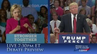 Promo: First Presidential Debate from Hofstra University tonight on C-SPAN