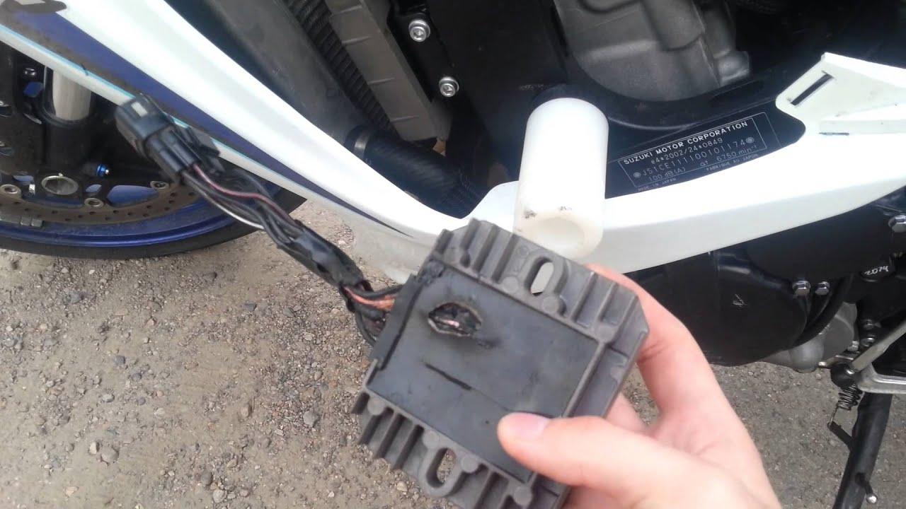 Сколько зарядки должен давать генератор на мотоцикле сузуки устройство автомобильного датчика температуры охлаждающей жидкости