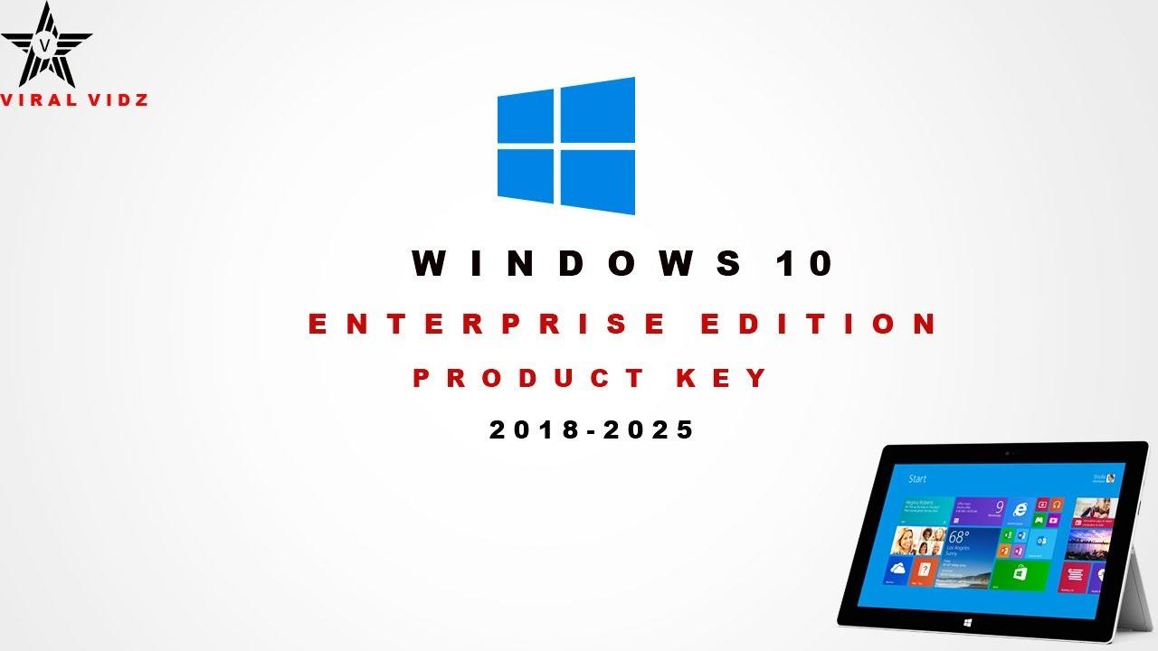 windows 10 product key enterprise 2018