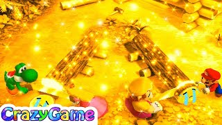 Mario Party The Top 100 - Looney Lumberjacks + More Mario Party Minigames Gameplay