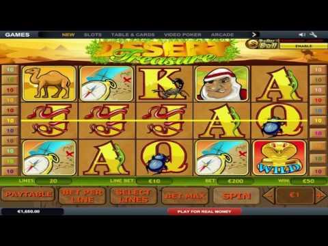 Kostenloser Desert Treasure II Spielautomat von Playtech Video Vorschau | HEX