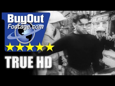 HD Stock Footage WWII BATTLE FOR PARIS - FRENCH RESISTANCE FFI - LIBERATION