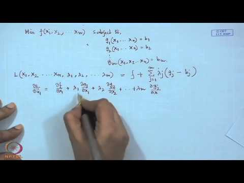 Mod-01 Lec-23 Nonlinear programming with equality constraint
