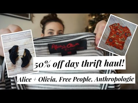 Mega 50% off thrift haul! Goodwill 2017