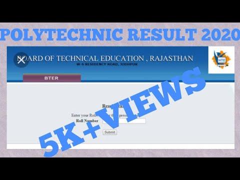 Polytechnic result-2019   BTER result 2019  rajthans polytechnic result 2019-board of technical