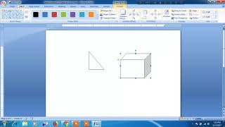How to draw maths picture in word