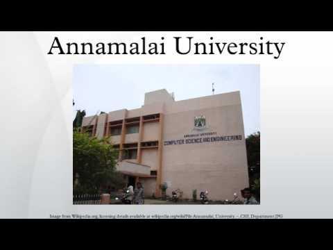 Annamalai University Youtube