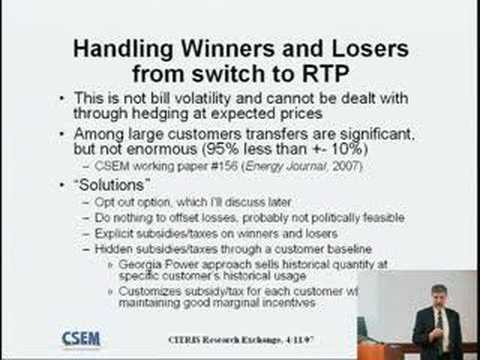 Policy and Economic Issues in Dynamic Electricity Pricing