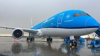 Onboard the first KLM 787-9 Welcome Flight (Wing Flex!)