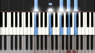 красивый аккомпанемент на пианино - 1 часть