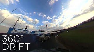 前も後ろもドリフト走行!白熱カーレースを「360度カメラ」で撮影!