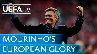 José Mourinho - European trophies with three clubs. Watch highlights