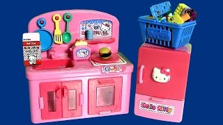 Play Doh Hello Kitty Mini Kitchen Preschool set with Princess Anna Elsa