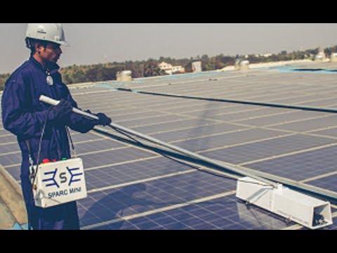 SPARC MINI   Semi Automatic Solar Panel Cleaner