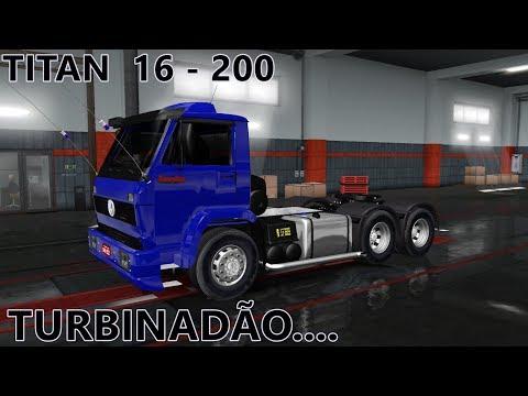 Mod Caminhão Volkswagen 16-200 euro truck simulator 2 1.35