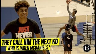 They Call Him The NEXT Kevin Durant! From Ranked 90 to Top 5 In 3 MONTHS! Who Is Jaden McDaniels!?