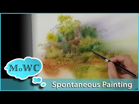 Spontaneous Watercolor Landscape + New Canson Paper