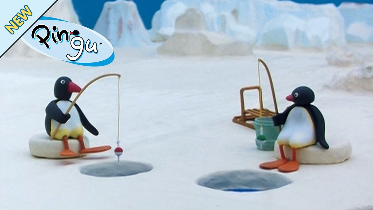 Pingu has a fishing competition pingu official channel for Fishing youtube channels
