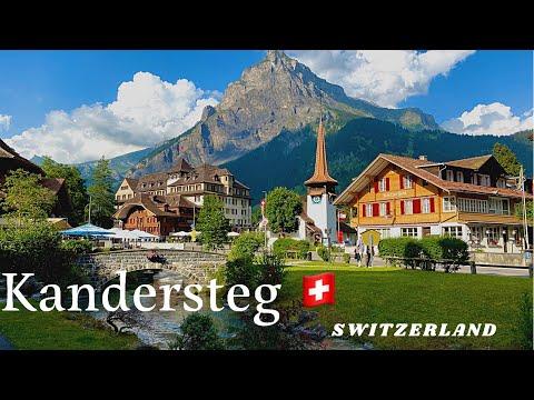 Kandersteg, the Village in the Heart of the Alps🏔  Walk Tour   Switzerland 🇨🇭 