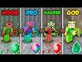 Minecraft NOOB vs. PRO vs. HACKER vs. GOD: EMERALD BATTLE in Minecraft! (Animation)