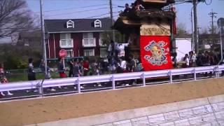 2016年 半田市成岩3区 西馬場神車(武豊町下門八幡車との出合い)