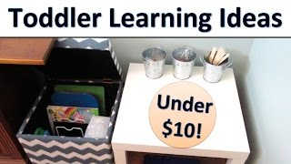 Learning Center | Toddler Teaching Ideas