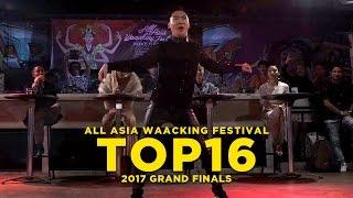 Chihiro (JPN) vs Wizzard (KOR)   Top16   All Asia Waacking Festival Grand Finals 2017