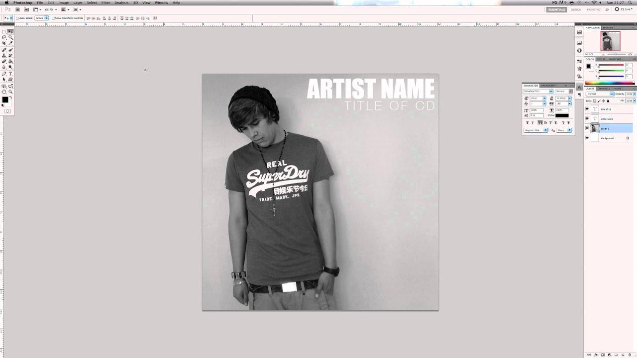 Design t shirt photoshop cs5 - Photoshop Cs5 Tutorial How To Design A Professional Album Cover Youtube