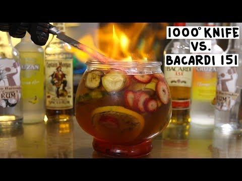 1000 Degree Knife vs  Bacardi 151