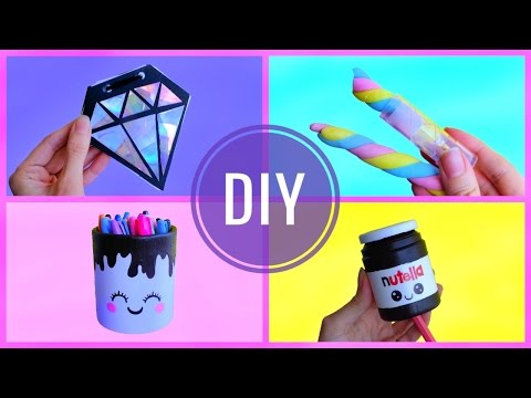 4 DIY RECYCLED SCHOOL SUPPLIES | Recycling crafts