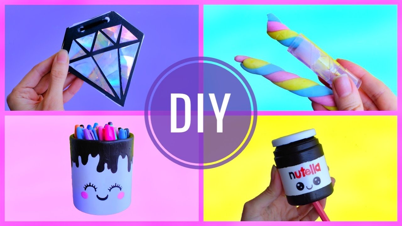 4 Diy Recycled School Supplies Recycling Crafts