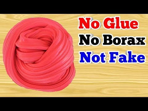 2 INGREDIENTS SLIME!! How To Make Flour And Sugar Fluffy Slime Without Borax And Glue