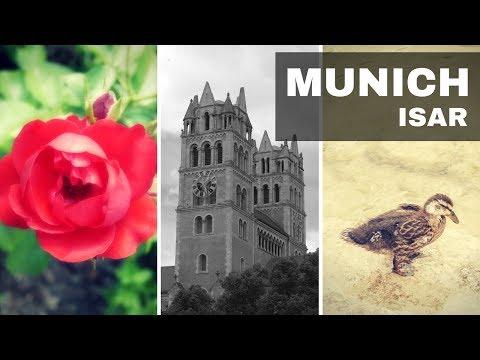 Isar and Rosengarten in Munich - Travel Germany [4K]