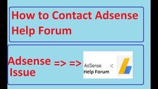 How to contact adsense help forum in tamil